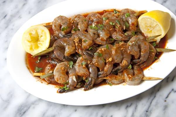 marinated shrimp enchilada sauce