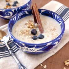 old fashioned Mexican oatmeal avena