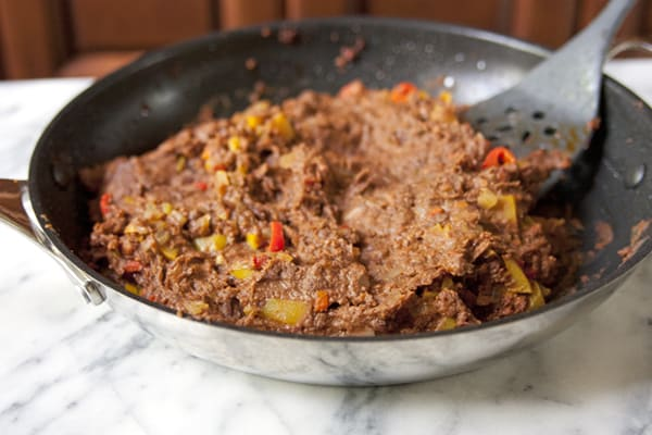 refried beans mixture