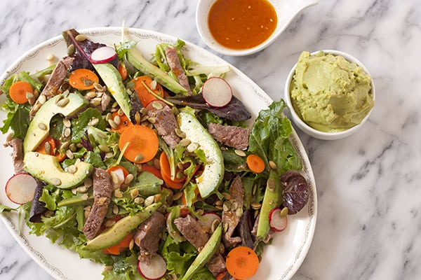 Spring Salad with Carne Asada