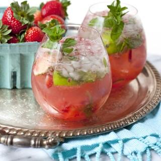 strawberry and passion fruit mojito caipirinha