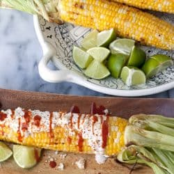 Mexican street corn on the cob