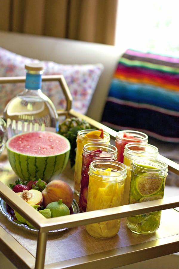 Mexican styled bar cart