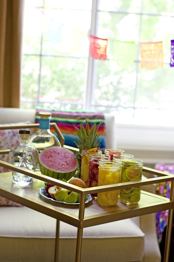 fiesta bar cart