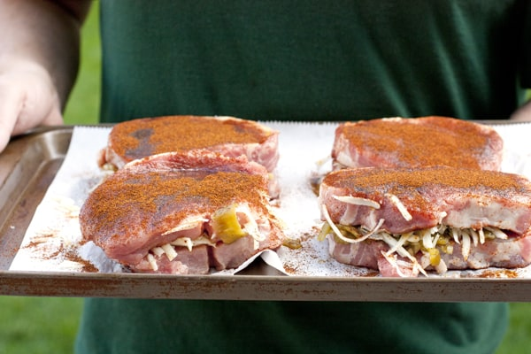 Muy Bueno Cookbook » Smoked Pork Chops Stuffed with Oaxaca Cheese and ...