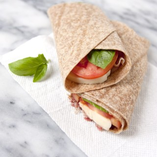 school lunch - Caprese Salad and Prosciutto Wrap