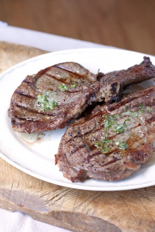 Rib-Eye Steak with Cilantro Lemon Butter - Muy Bueno Cookbook