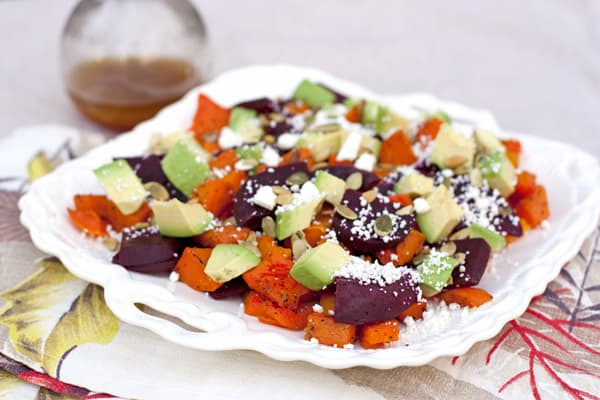 Butternut Squash and Beet Fall Salad
