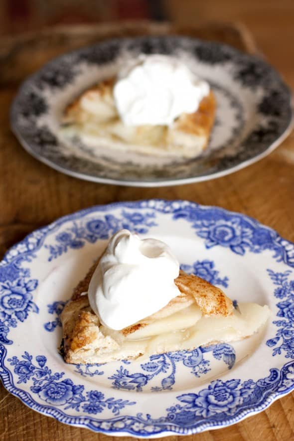 Pear Galette with Chantilly Cream