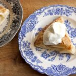pear galette chantilly cream
