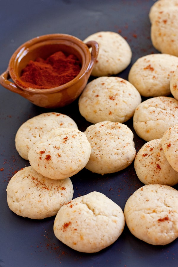 pine nut cookies with ground chile