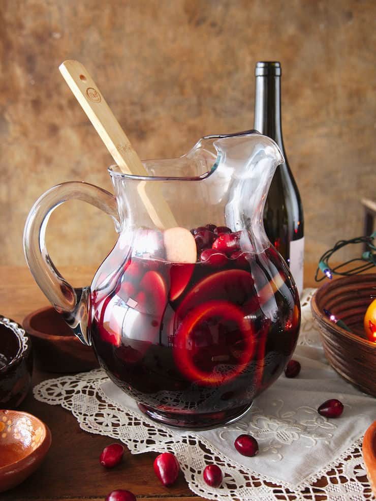 red wine to make Christmas sangria