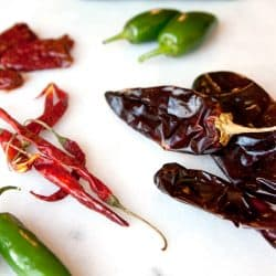 different types of mexican chiles