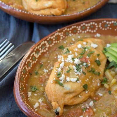 Chile Rellenos Topped with Green Chile Salsa_1-11