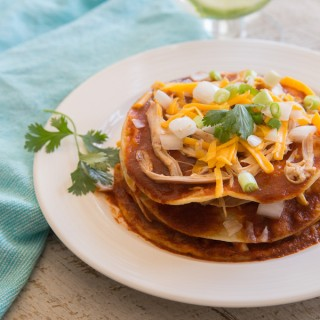 Stacked Red Enchiladas