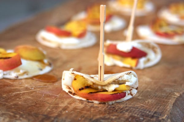Tortillas-with-Ricotta-Cheese-and-Grilled-Peaches