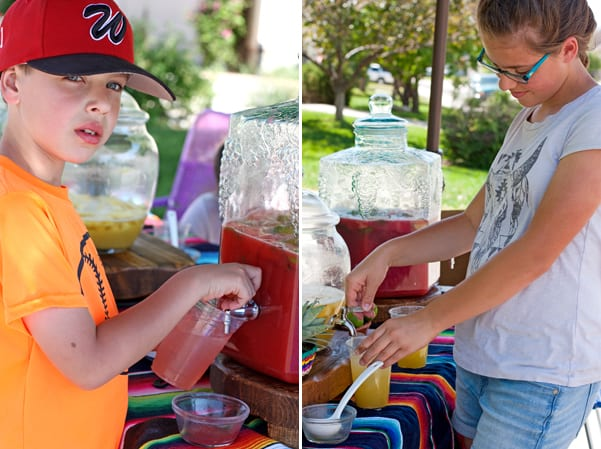 children agua fresca stand