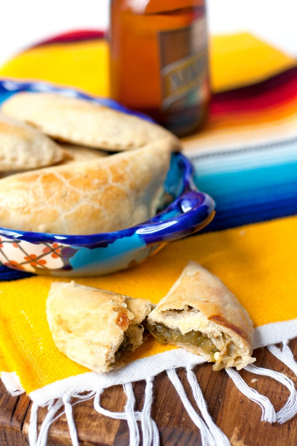 Hatch Green Chile and Cheese Empanadas
