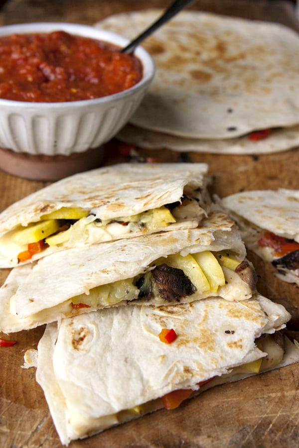roasted-squash-and-mushroom-quesadillas