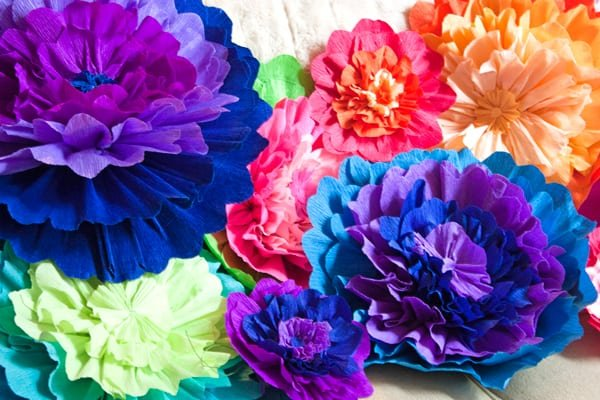 Mexican paper flowers muy bueno cookbook homemade paper flowers mightylinksfo