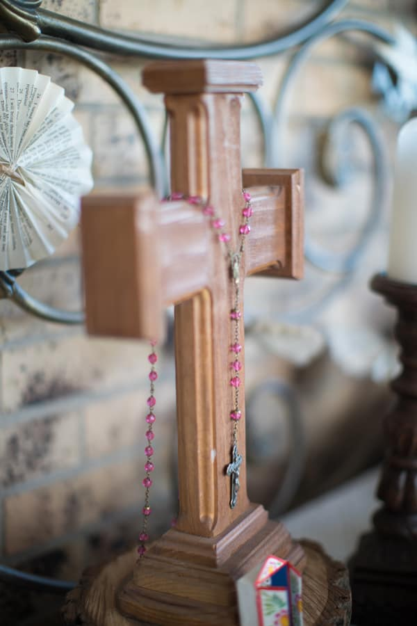 cross and rosary Day of the Dead Altar Elements