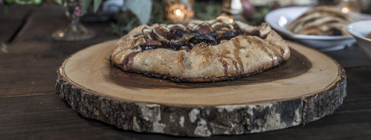 Rustic Fig Galette Topped with Chantilly Cream - Muy Bueno ...