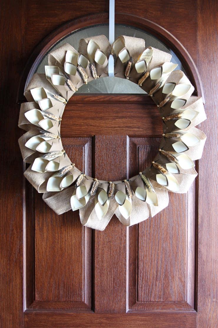 paper-cone-gratitude-wreath