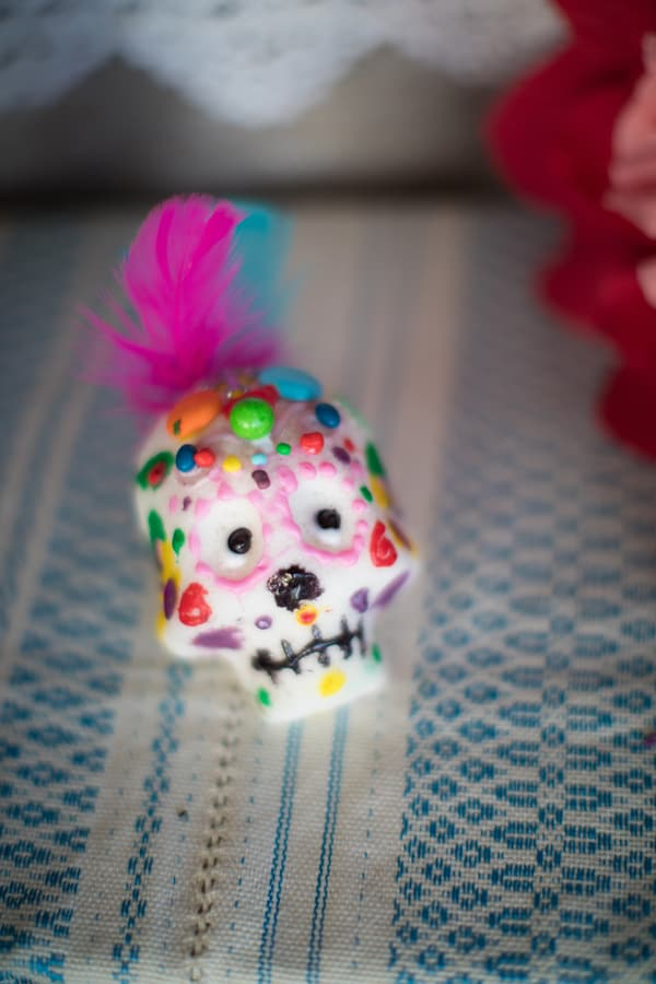 sugar skull day of the dead elements for altar