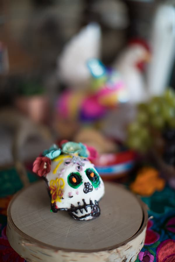 sugar skull for day of the dead elements