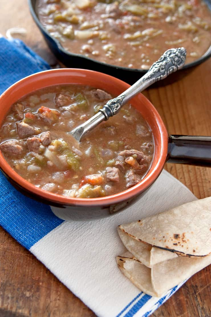 Chile Verde Con Carne Y Papas Green Chile With Beef And Potatoes