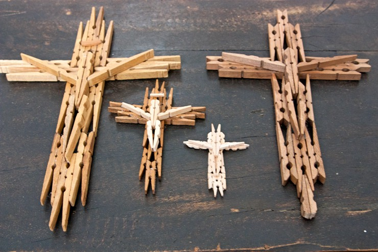 Wooden Clothespin Cross - Muy Bueno Cookbook