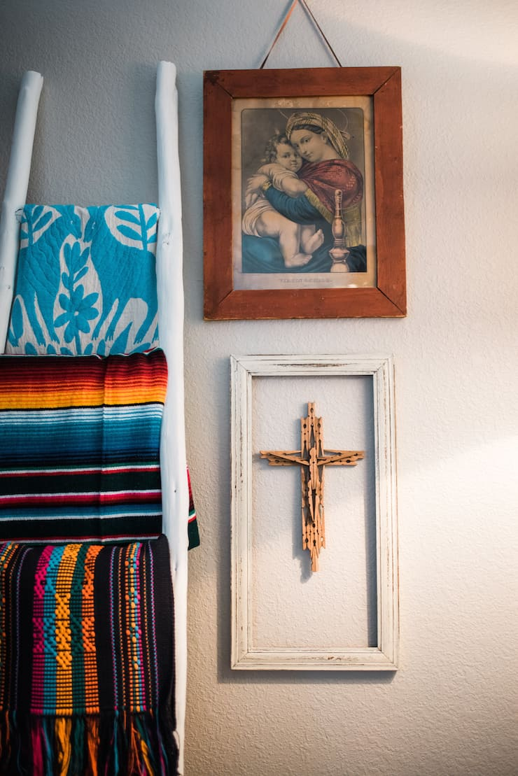Mexican DIY clothespin cross