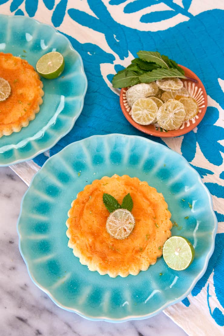 Key Lime Cheesecake Flans