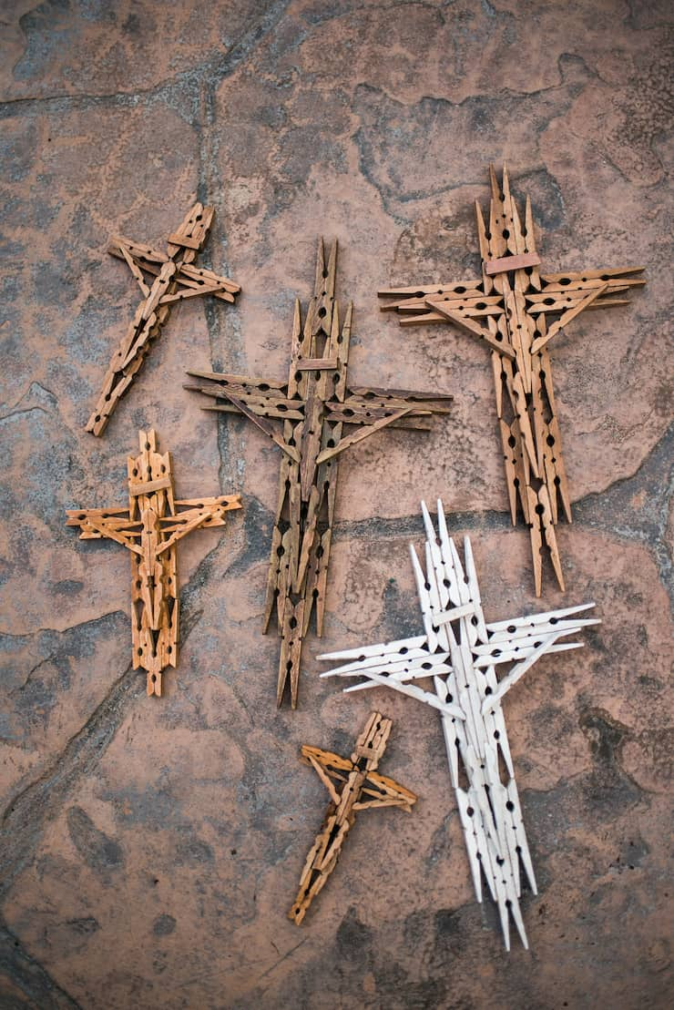 DIY Wooden Clothespin Cross