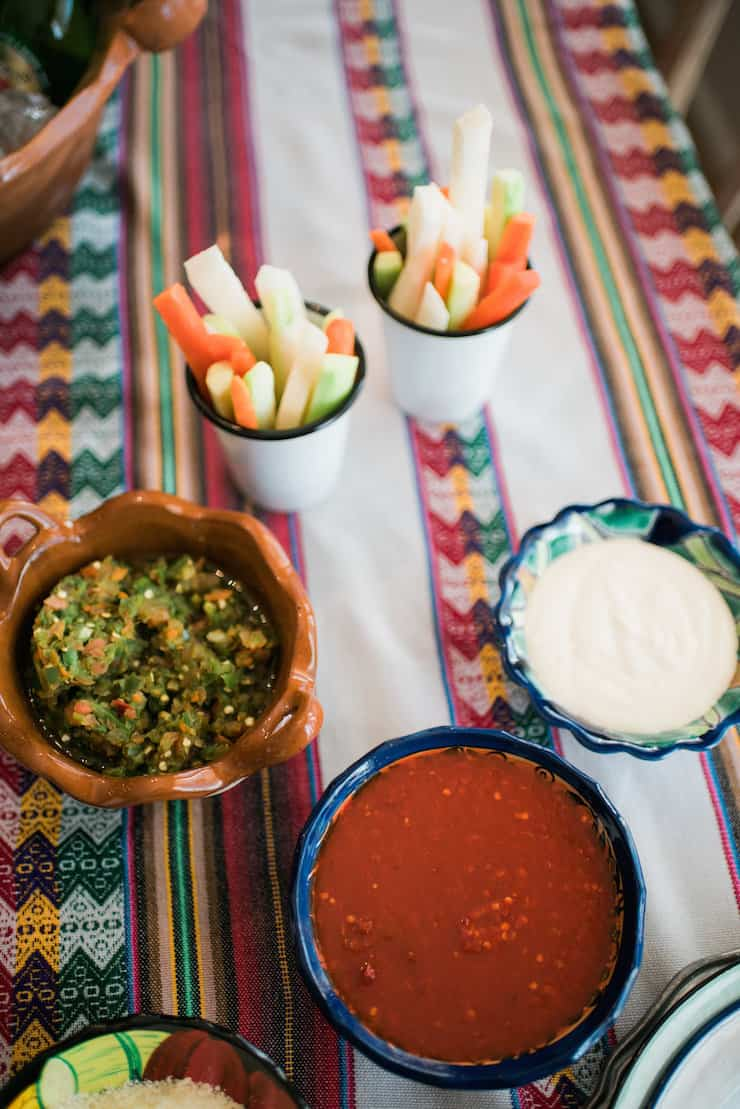 fiesta salsas garnishes
