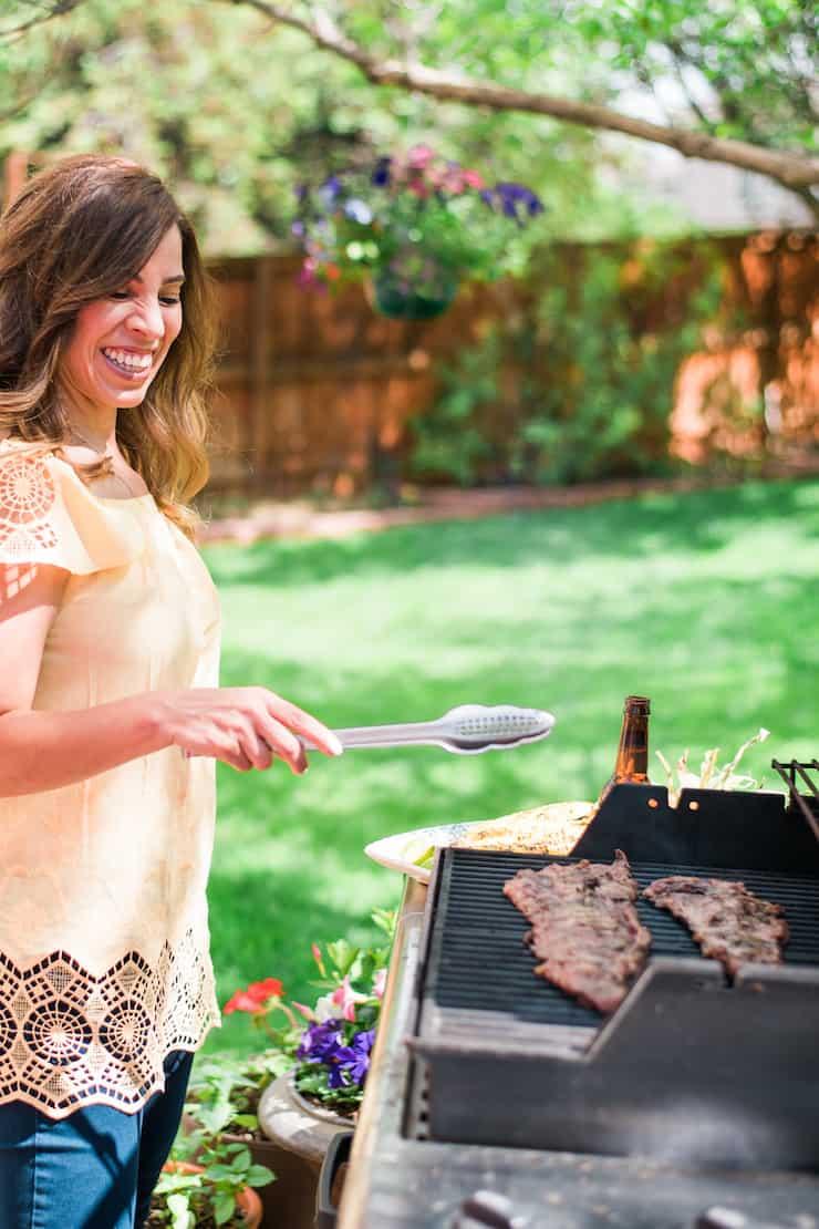Yvette Marquez Muy Bueno grilling steak