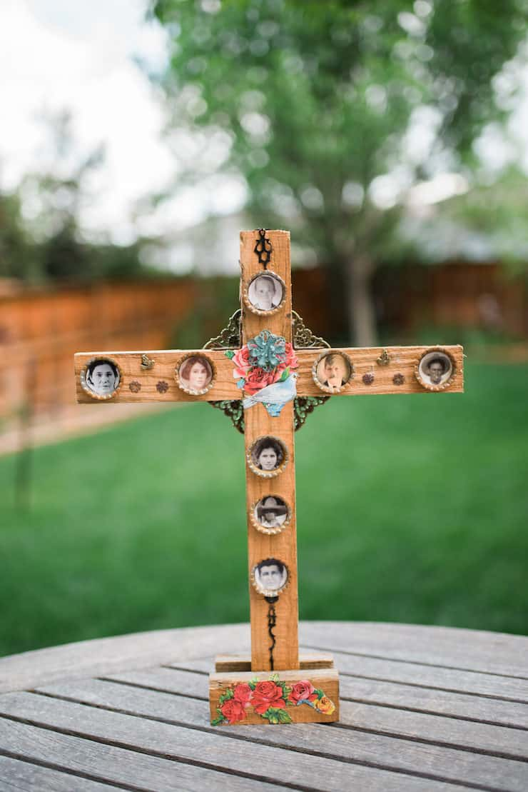 Mexican Folk Art Bottle Cap Cross