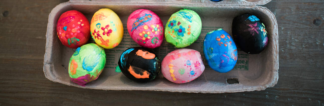 how to make confetti filled eggs
