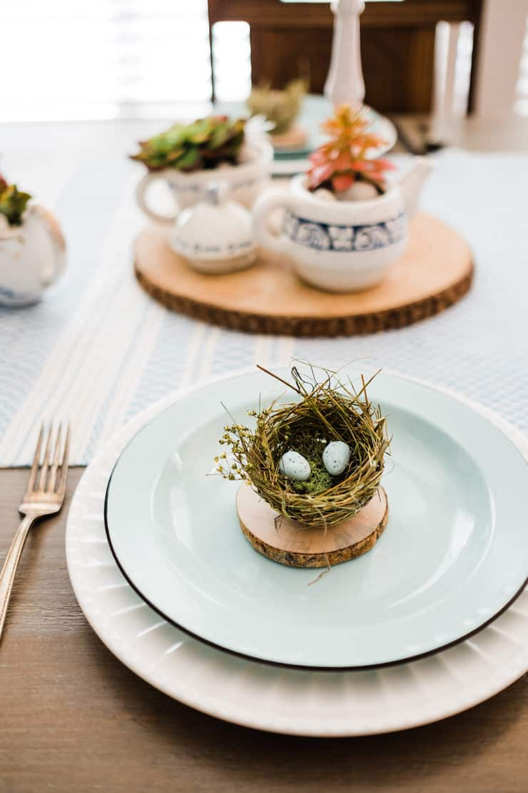 Easter or Spring tablescape