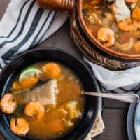 Caldo de Pescado y Camaron (Fish and Shrimp Soup)