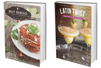 Muy Bueno Cookbook and Latin Twist Cookbook