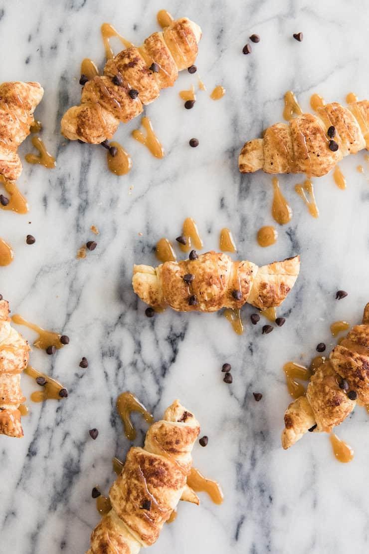Chocolate and Dulce de Leche Croissants