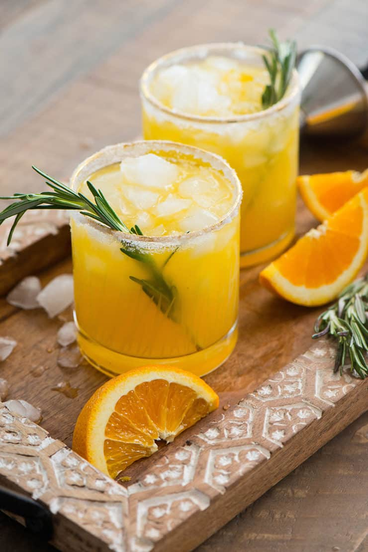 Rosemary Infused Orange Margarita