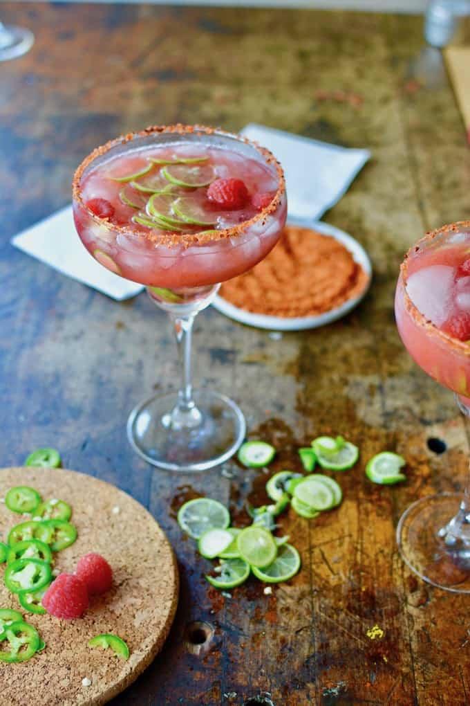Spicy Raspberry Jalapeño Margarita