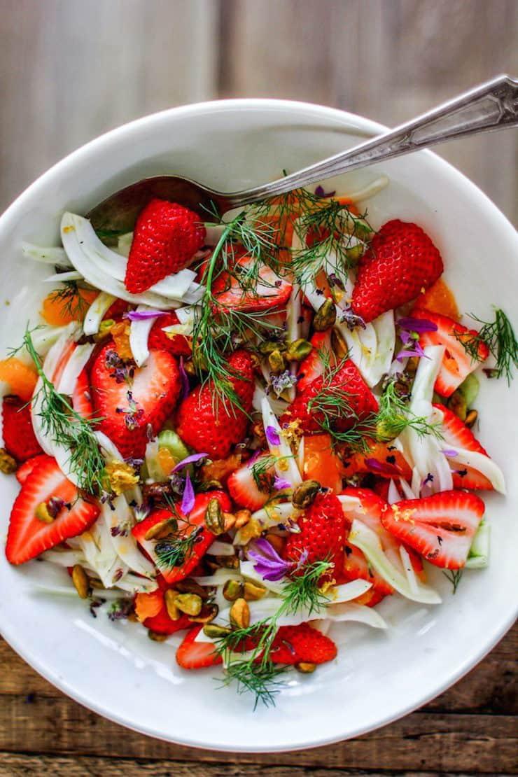 Winter Fruit Salad with Honey-Lemon Dressing and Pistachios
