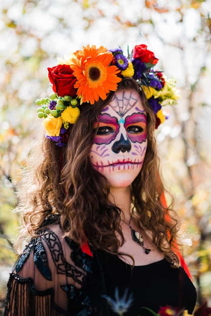 Dia de los Muertos Flower Crown - Muy Bueno Cookbook