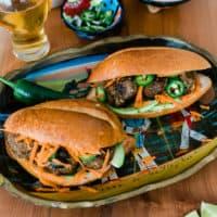 Mexican Chorizo Meatball Sandwiches (Tortas de Albondigas)