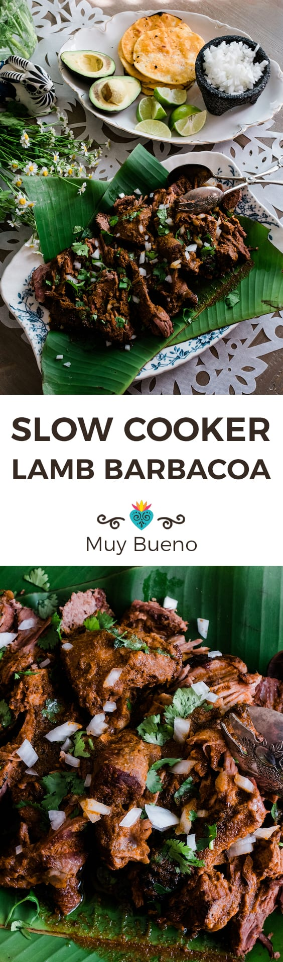 Slow Cooker Lamb Barbacoa collage with text overlay