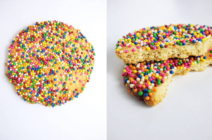 Gragea cookies with sprinkles pan dulce