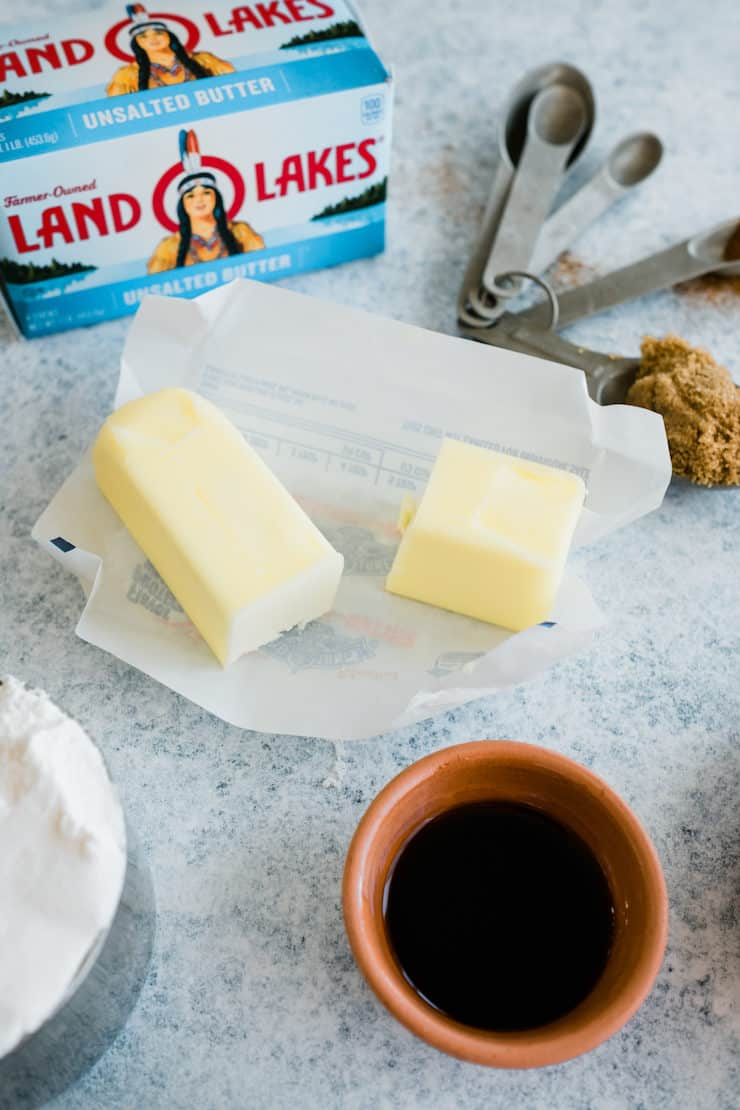 Closeup on the Land O Lakes unsalted butter